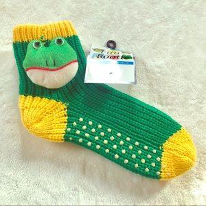 NWT Cute Frog Bootie Socks